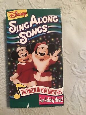 Disney Sing Along Songs Very Merry Christmas Songs 2002.Disney Sing Along Songs The Twelve Days Of Christmasdisney