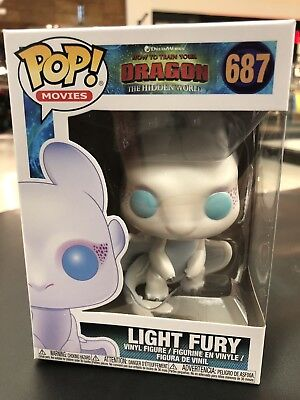 Funko PoP! Light Fury #687 How To Train Your Dragon Dream Works