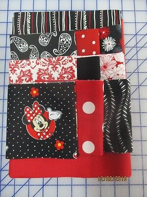 Adorable Minnie Mouse Disappearing 9 Patch Baby Girl Quilt Complete Kit