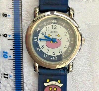 CITRON Blue Cute Comical Cow Learning Watch - FLAT FEE P&P