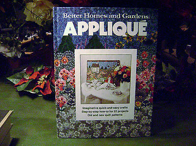 Vintage-Better Homes And Gardens Applique`-Hardcover- Book-1978