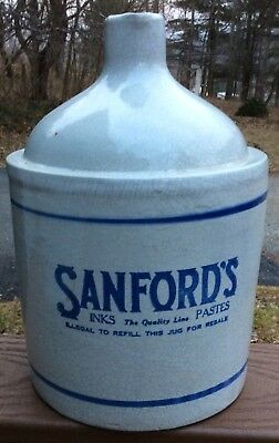 SANFORD'S INKS The Quality Line PASTES  stoneware jug
