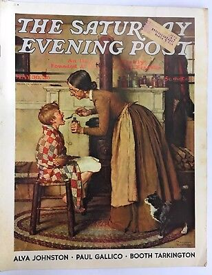 Saturday Evening Post MAY 30 1936 Norman Rockwell TAKING MEDICINE Cvr WHOLE MAG