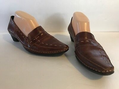 705579c08251 PIKOLINOS BROWN LEATHER Slip On Loafers Casual Men s Shoes Sz 42 US ...