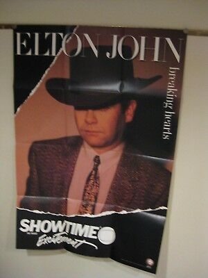 1985 Showtime promo poster Elton John Breaking Hearts limited edition