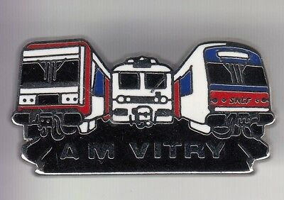 Rare Pins Pin's .. Train Sncf Tgv Railways Locomotive Rer Idf Am Vitry 94 ~C9