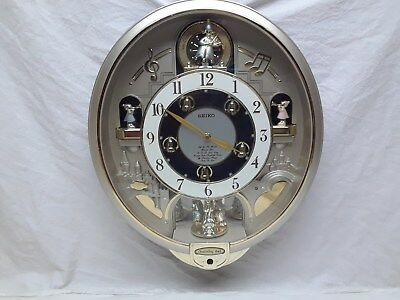 Seiko Melodies in Motion Wall Clock Charming Bell WORKS Animated Musical 17x14