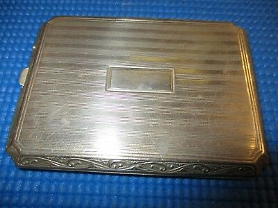 Vintage Art Deco Nickle Silver Cigarette Case