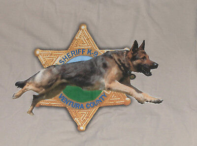 VENTURA County Southern California Sheriff Department K9 K-9 canine unit shirt M