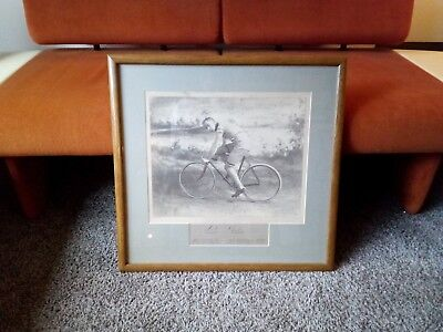 1899 Nat Butler Autograph? Picture Bicycle Racing Sign Advertising Rare History