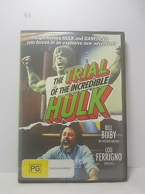 The Trial of the Incredible HULK Very Good Region 4 DVD (81)