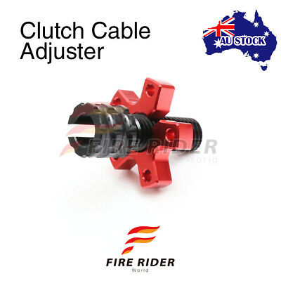 For Kawasaki Ninja ZX-6R ZX600 93-96 94 95 FRW Red CNC Clutch Cable Adjuster