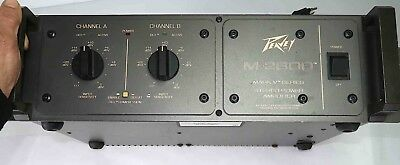 Peavey M-2600 Mark V Series 2-Channel Power Amplifier *TESTED* FREE SHIPPING