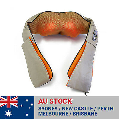 Easy Shiatsu Neck and Shoulders Massager Heating Cushion Massage Pillow Relax