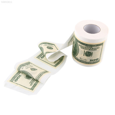 F7D9 Creative Toilet Paper $100 USD Dollar Bill Money Roll Soft Rolls Magic Toy