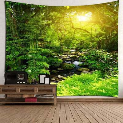 Landscape Forest Print Tapestry Wall Hanging Art Nature Tree Tapestry Home Decor