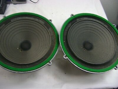 Vintage Wharfedale  Green Felt   9.5 Inch Speakers Pair  Tested And Working