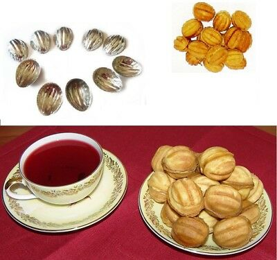 Metal Mold Forms For Sweet Russian Oreshki Pastry Cookie Nutlets Sets 10-100 pcs