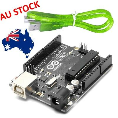 Arduino UNO R3 ATMEGA328P Board + USB Cable (AU Stock) Kit Breadboard Hobby