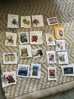 Bulk Lot of 20 X Australian Stamps USED ALL ON PAPER