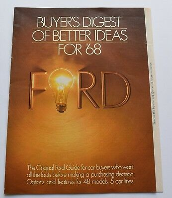 1968 Ford Buyer's Digest of Better Ideas For '68 Sales Brochure * 1968 Mustang*