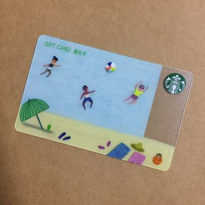 2017 Starbucks China Summer Relaxation Gift Card Pin Intact