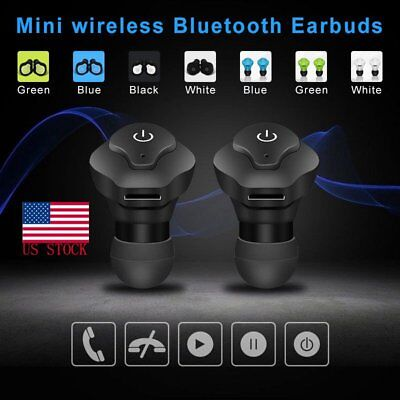 Mini Twins Wireless In-Ear Stereo Bluetooth Earphones Earbuds Headset For iPhone