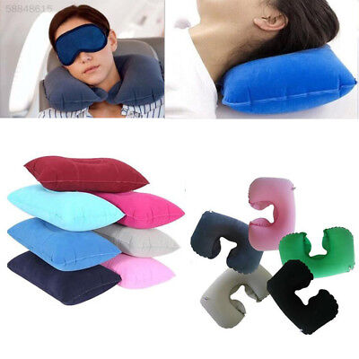 Double Sided Air Inflatable Pillow Cushion Camping Travel Trip Hiking Sleep Mat