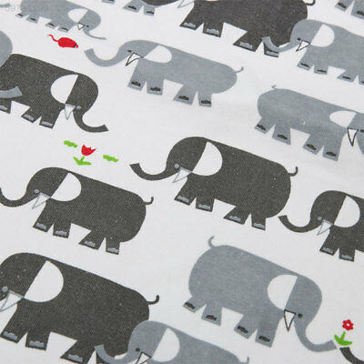 A0AB Toddler Baby Elephant Pattern Blanket Swaddle Stroller Wrap Bathing Towel