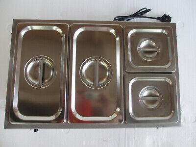 2019 New With 4 Pans & Lids Commercial  Stainless Steel Electric Bain Marie