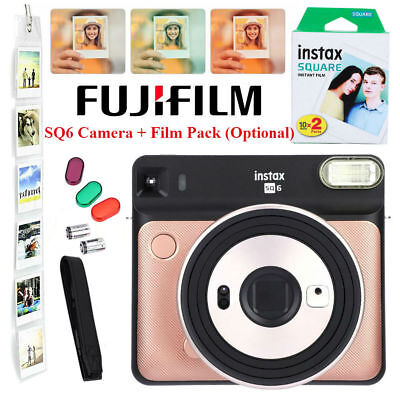 Fujifilm Instax SQUARE SQ6 Camera + Fuji Instant White Edge Photo Paper Film BBY