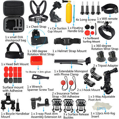 For GoPro Accessories Hero7/6/5/4/3 Bundle Camera Outdoor Sports Set Kit
