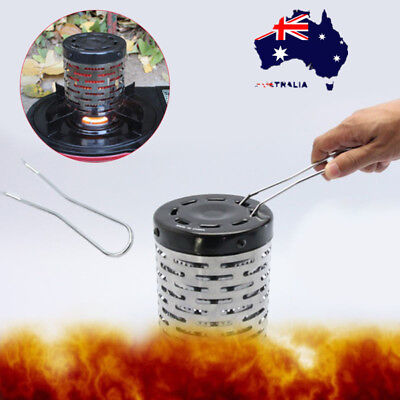 Portable Camping Tent Heater Warmer Stove Heating Cover Stainless Steel Useful