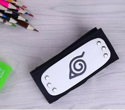NEW Naruto Uchiha Itachi Black Leaf Village Ninja Headband Cosplay Prop AU
