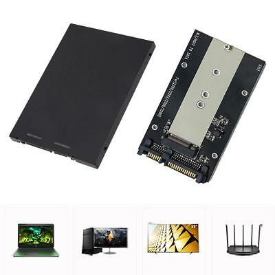 "M.2 NGFF SSD to 2.5"" SATA 3.0 Adapter Card Case HDD Enclosure Converter PC"