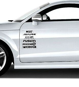 Car Door Stack Sponsor Logo Stickers Graphics Decals Car Sports