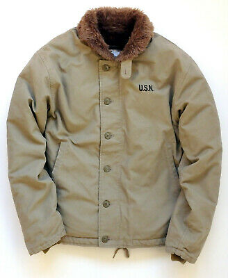 USN Navy N1 N-1 Deck Jacket NAVY Blue Vtg Finish. Repro Model.many sizes