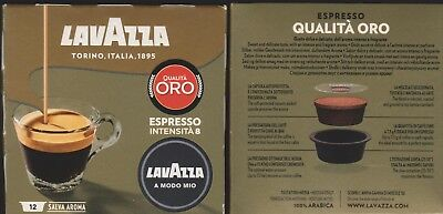 Lavazza A Modo Mio ESPRESSO INTENSITA 8 Pods Coffee Machine - 2 BOXES - FREE P&H