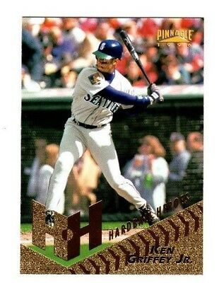 KEN GRIFFEY JR 1996 Pinnacle HARDBALL HEROES #255 SEATTLE MARINERS Reds