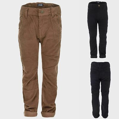 Baby Boys Wholesale Joblot Corduroy Trousers Navy & Tan Qty PC 10/16 NEW