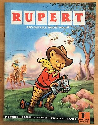 RUPERT Adventure Series No 41 Rupert Adventure Book 1959 VG PLUS JANUARY SALE!