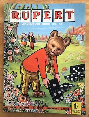 RUPERT Adventure Series No 43 Rupert Adventure Book 1960 VG/FINE JANUARY SALE!