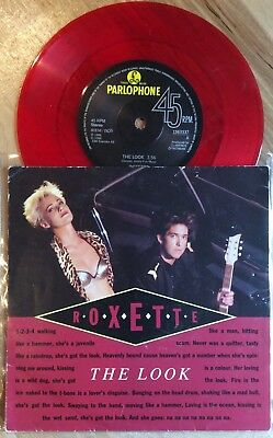 ROXETTE - LOOK SHARP - 7' vinyl Record Single 45 - Sweden- rare - red Vinyl