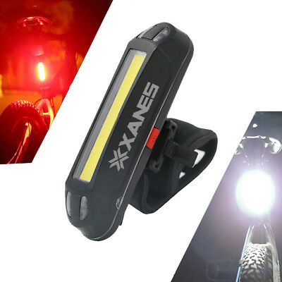 XANES 2 in 1 500LM Bicycle USB Rechargeable LED Bike Light Taillight Ultralig...
