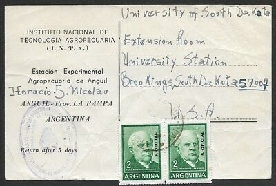 Argentina Stamps Argentina 1934 1935 Steam Mail Cover Registered Usa Eucharistic Congress Mg