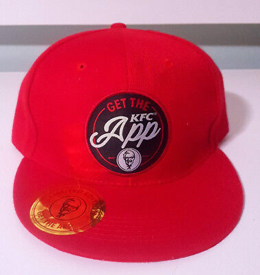 Get The Kfc App Red And Black Snapback Limited Edition Hat 2018 Kentucky Fried