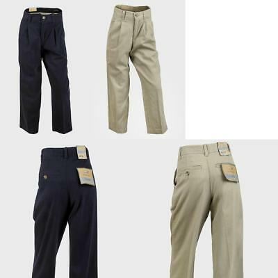 10PC Boys Wholesale Joblot Chino Durable Trousers  - Beige Navy Age 8 10 12 NEW