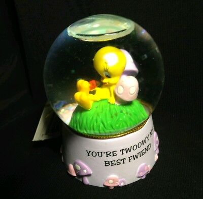 (2008)TWEETY Bird Miniature Snow Globe LOONEY TUNES Warner Bros