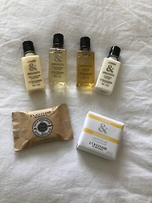 L'occitane Jasmin & Bergamote Travel Kit(Shampoo/cond/Shwr gel/body milk/soaps