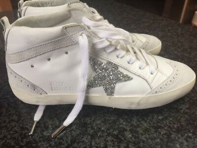 3cc57c01765b GOLDEN GOOSE GGDB Swarovski Crystal Embellished Mid Star Sneakers sz 35 NEW